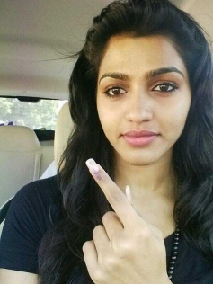 Dhansika casted her vote