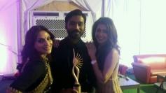 Dhanush and Aishwarya at IIFA Awards 2014
