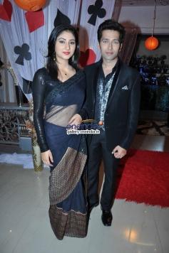 Disha Parmar and Nakuul Mehta during the Samrat & Co promotion on the sets of Pyaar Ka Dard Hai