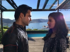 Emraan Hashmi and Amyra Dastur on the sets of Mr X in Cape Town