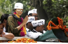 Gul Panag during her election campaign for Lok Sabha election in Chandigarh