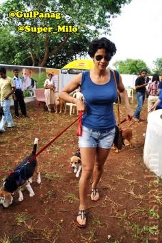 Gul Panag poses with dog