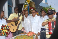 Hamsalekha at Dr Rajkumar Birthday Celebration at Film Chamber