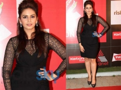 Huma Qureshi Sports in Shorts Dress