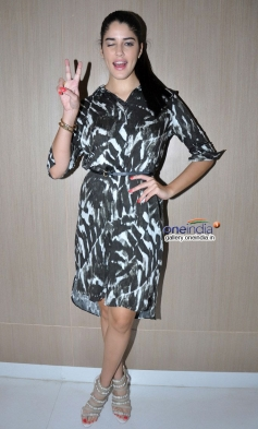 Izabelle Leite during the promotion of film Purani Jeans at Neel restaurant