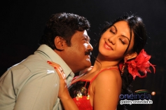Jaggesh and Kamna Jethmalani in Kannada Movie Agraja