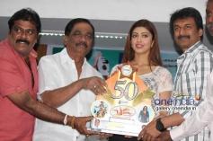 K Manju, Pranitha at Brahma Movie 50 Days Success Meet