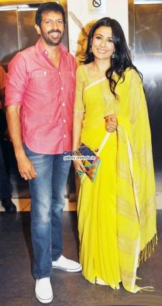 Kabir Khan with his Wife at 2 States Special Screening at Yash Raj Studios