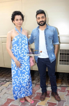 Kangana Ranaut & Vir Das at Revolver Rani Media Interaction at Filmalya Studio