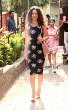 Kangna Ranaut arrives at Filmalaya Studios to promote Revolver Rani