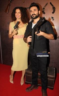 Kangna Ranaut and Vir Das at press conference of film Revolver Rani