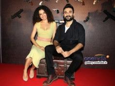 Kangna Ranaut with Vir Das at press conference of film Revolver Rani