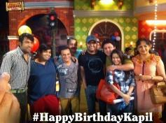Kapil Sharma celebrates birthday with Comedy Nights with Kapil show stars