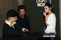Karan Johar, Arjun Kapoor and Alia Bhatt attends 2 States special screening at Light Box
