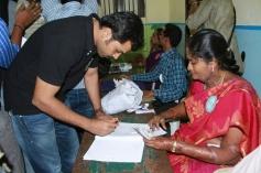 Karthi casts his vote