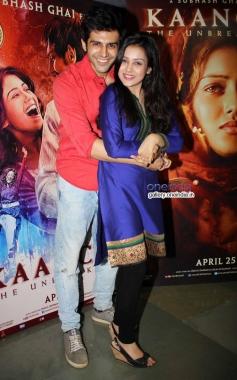 Kartik Aaryan and Mishti at Kaanchi film media interaction