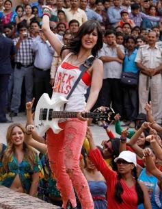 Katrina Kaif posing with Guitar
