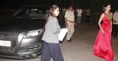 Katrina Kaif snapped with her Audi Q7 car