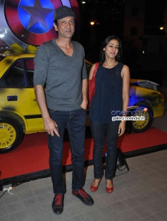 Kay Kay Menon with wife Nivedita at Captain America The Winter Soldier special screening