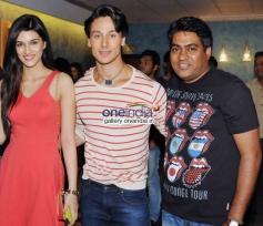 Kirti Sanon, Tiger Sharoff & Sabir Khan at 2 States Special Screening at Yash Raj Studios