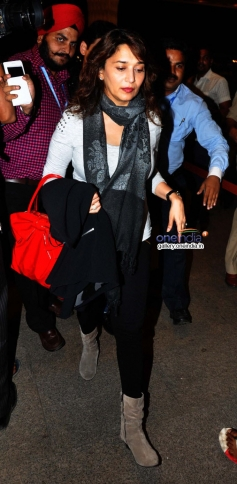 Madhuri Dixit leaves for IIFA 2014