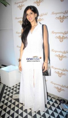 Fashion designer Nishka Lulla at Launch of Turquoise & Gold store