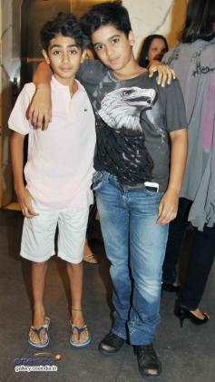 Malaika Arora's son Arhaan & Sajid Nadiadwala's Son Shubhan @ 2 States Screening at Yash Raj Studios