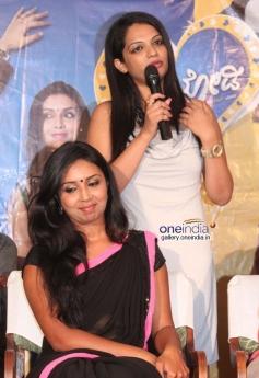 Karthika Menon, Akshatha Marla at Melody Movie Press Meet