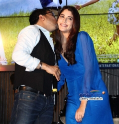Mika Singh kisses Izabelle Leite at Purani Jeans film music launch