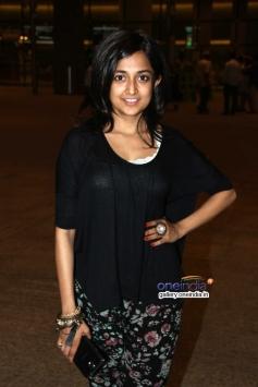Monali Thakur snapped returning from IIFA 2014