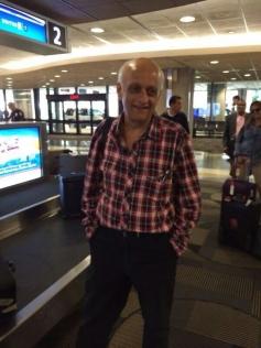 Mukesh Bhatt arrives at Tampa International Airport for IIFA 2014