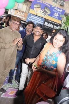 Nassar and Suhasini Maniratnam at Green Trends Hair and Style Salon launch