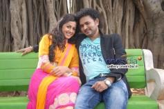 Nikki Galrani and Manoj in Paravashanadenu