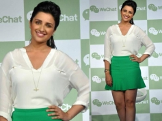 Parneeti Chopra Sports in Shorts Dress