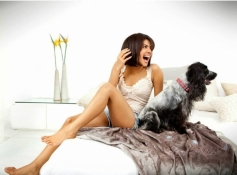 Priyanka Chopra poses with dog
