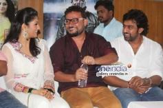 Radhika Kumaraswamy, Chiranjeevi Sarja at Rudra Tandava Movie Press Meet