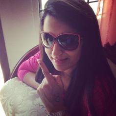Trisha Krishnan cast her vote