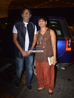 Rakeysh Omprakash Mehra with wife PS Bharathi leaves for IIFA awards 2014
