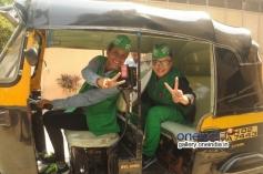 Rakhi Sawant with women Auto Rickshaw driver