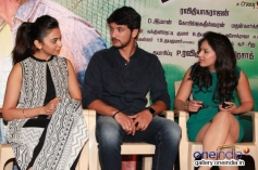 Rakul Preet Singh, Gautham Karthick and Nikeesha Patel at Ennamo Edho film press meet