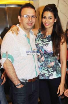 Roshan Abbas with Wife at 2 States Special Screening at Yash Raj Studios