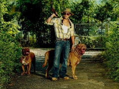 Salman Khan poses with his pet dog