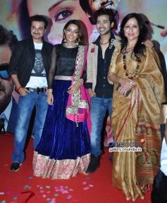 Sanjay Kapoor, Sonia Mann, Abhishek Sethiya and Kishori at Kahin Hai Mera Pyar film music launch