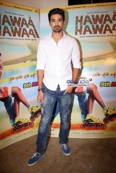Saqib Saleem promote film Hawaa Hawaai at Mehboob Studio
