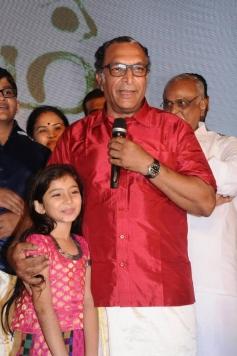 Sara Arjun and Nassar at Saivam audio launch