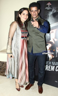 Sharman Joshi with wife at Prem Chopra's autobiography launch