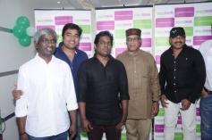 Shiva, Yuvan Shankar Raja and Nassar at Green Trends Hair and Style Salon launch
