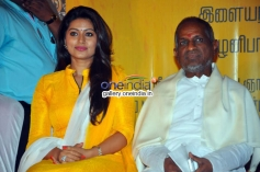 Sneha & Ilayaraja at Un Samayal Arayil  Arayil Audio launch
