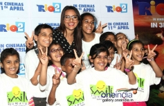 Sonakshi Sinha having fun with Smile NGO Kids at special screening of Rio 2