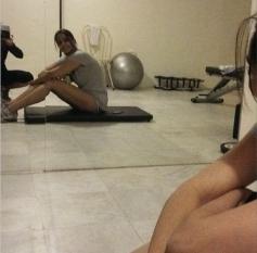 Sonam Kapoor gym work out for Khoobsurat